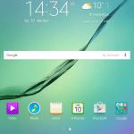 Samsung Galaxy Tab S2 8.0 - skærmbillede
