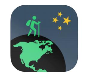 Screenshots fra Walkaventure applikationen