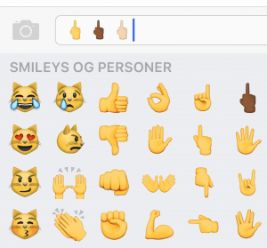 Fuckfingeren på iOS 9.1 (Foto: MereMobil.dk)