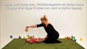 "Screenshots fra applikationen ""Babymotorik & sang"""
