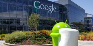 Android Marshmallow figuren udenfor Android-bygningen (Foto: Engadget.com)