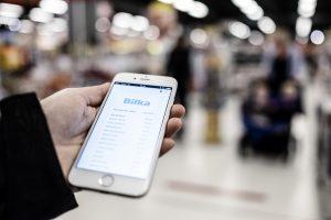 E-kvittering Bilka (Foto: Claus Sjödin / CSPress.dk - Elektronisk kvittering)
