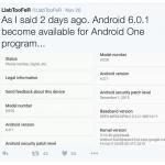 Android 6.0.1 Marshmallow opdatering på vej (Kilde: @LlabTooFeR)