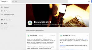 MereMobil.dk på Google+