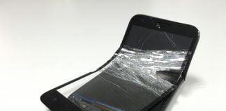 Ødelagt smartphone (Foto: MereMobil.dk)