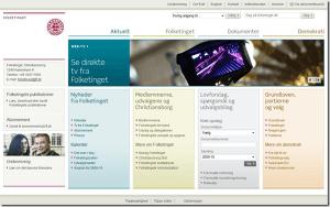 Det er nu igen muligt at tilgå Folketingets hjemmeside.
