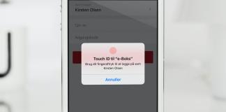 Login med Touch ID på E-boks (Foto: E-boks)