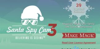 Screenshots fra applikationen Santa Spy Cam 3