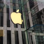 Apple logoet over Apple Store på 5th Avenue i New York (Foto: MereMobil.dk)