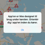 Screenshots fra applikationen Vintervejr