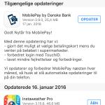 Screenshots fra applikationen Vintervejr