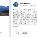 Sundar Pichai afslører Google I/O 2016