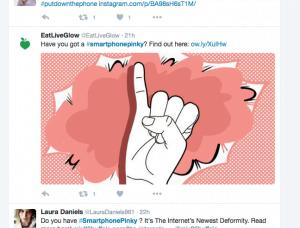 Smartphonepinky (smartphone-fingre) fundet på Twitter