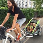 Co-founder af ReShopper Anders Dahl Pape på cykeltur med familien (Foto: Trine Heiberg)