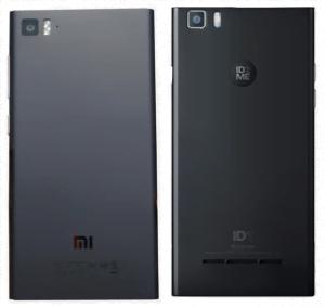 Her ses Xiaomi Mi3 til vesntre og ID1 fra ID2E til højre (Foto: MereMobil.dk)