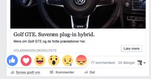 Facebook Reaction (Foto: MereMobil.dk)