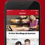 """Screenshots fra applikationen """"Mit Se & Hør"""""""