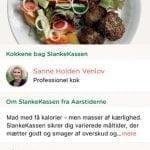 """Screenshots af applikationen """"Aarstidernes Madplan"""" (Foto: Aarstiderne)"""
