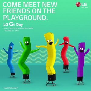 Invitationen til LG G5-event til Mobile World Congress 2016