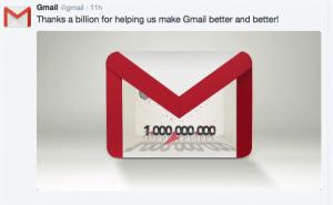Google takker en milliard gange
