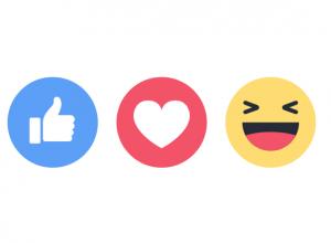 Facebook Reactions (Foto: MereMobil.dk)
