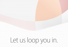 """Let us loop you in""-eventen holdes den 21. marts 2016 kl. 19 (Foto: Apple)"