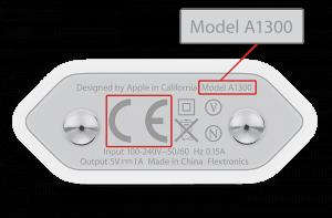 Fejlramt A1300 oplader (Foto: Apple)