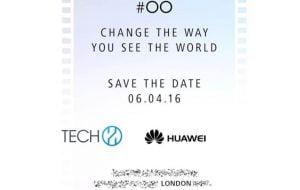 Invitationen til det event, hvor det ventes Huawei P9 vil blive afsløret for offentligheden (Kilde: PhoneArena.com)