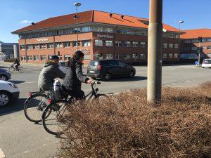 Cyklister i trafikken i Odense (Foto: MereMobil.dk)