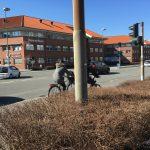 Cyklist i trafikken i Odense (Foto: MereMobil.dk)