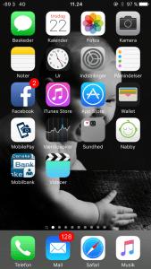 Sådan vises den mere præcise og aktuelle signalstyrke på din iPhone (Foto: MereMobil.dk)