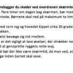 Gode råd til hvordan skader ved overdreven skærmbrug forebygges (Kilde: Fyens.dk)