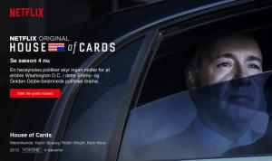 House of Cards sæson 4 har premiere på Netflix