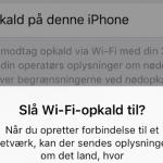 Aktivering af Wi-FI opkald på iPhone (Foto: MereMobil.dk)