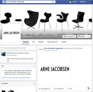 Falsk Arne Jacobsen Facebook-side (Foto: MereMobil.dk)