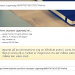 """Facebook tjek af """"Arne Jacobsen Lagersalg"""" (Foto: MereMobil.dk)"""