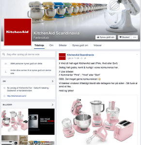 Falsk KitchenAid Facebook-side (Foto: MereMobil.dk)