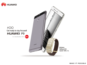 Huawei P9 og TalkBand B2 (Foto: Huawei)