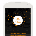 "Screenshots fra applikationen ""Ta' Cyklen"""