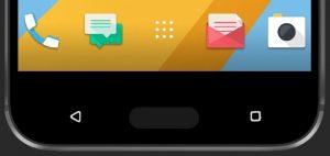 HTC 10 - kapasative knapper