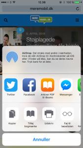 Sådan gemmer du en hjemmeside fra Safari, som PDF-fil i iBooks (Foto: MereMobil.dk)