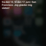 Siri inviterer til WWDC 2016 (Foto: MereMobil.dk)