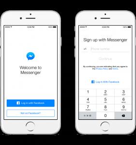 Login på Facebook Messenger uden en Facebook-profil (Foto: Facebook)