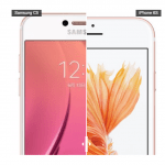 Samsung C5 vs. iPhone 6S (Foto: Huffingtonpost)
