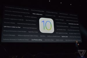 Apple WWDC 2016 præsentation - iOS 10 funktioner (Kilde: The Verge)