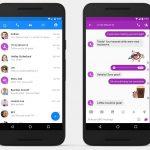 SMS i Facebook Messenger (Foto: Engadget)