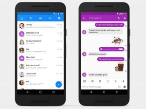 SMS i Facebook Messenger (Foto: Engadget)
