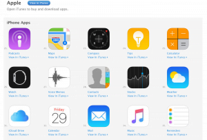 Screenshot fra Apple Apps i App Store (Kilde: The Verge)