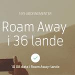 Roam Away (Kilde: Telenor)