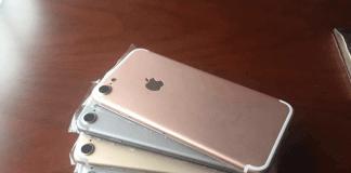 Lækket billede af prototyper på iPhone 7 - de fire farvevarianter er umiddelbart som på iPhone 6S(Foto: Macitynet.it)